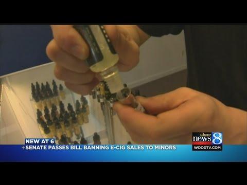 Michigan Senate OKs e-cigarette ban for minors
