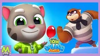 Говорящий Том Всплеск Силы/Talking Tom Splash Force.Все Герои Новой Игры против Банды Енотов