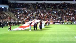 España - Georgia en Albacete. Salida de los jugadores