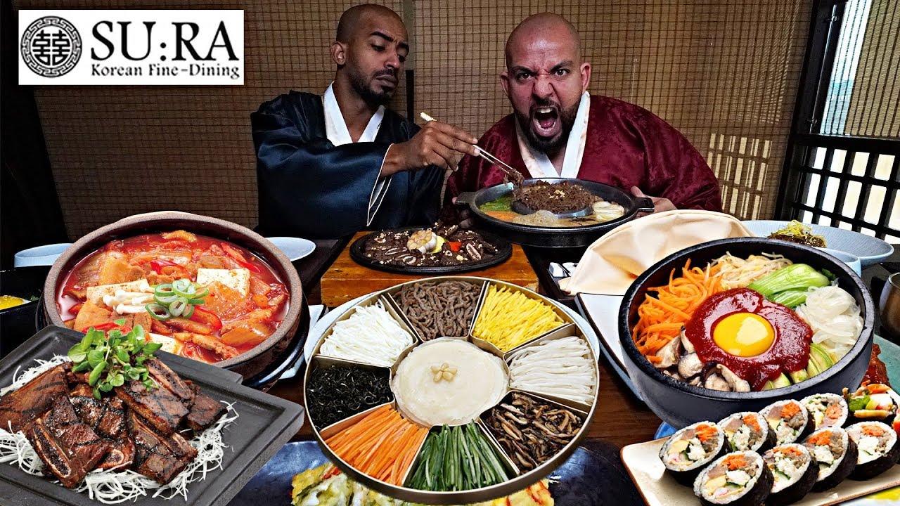 تحدي الاكل الكوري لي اول مره في مطعم سورا