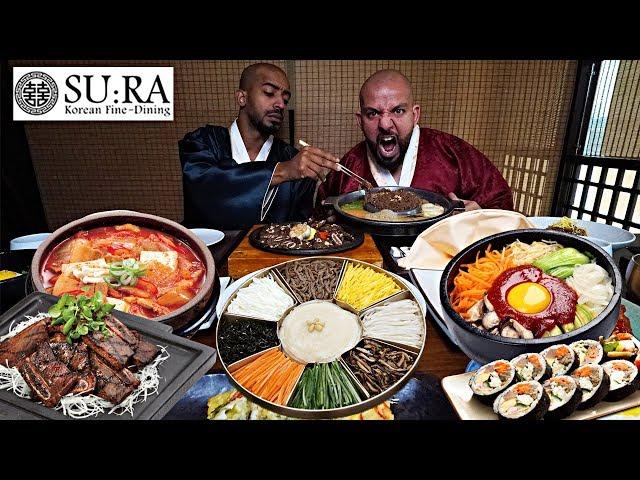 تحدي الاكل الكوري لي اول مره في مطعم سورا 🍱 Korean Food Challenge