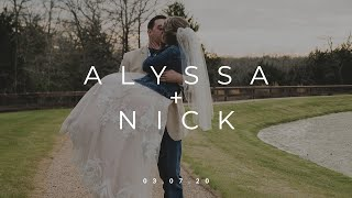 Alyssa + Nick | 03.07.20 | Highlight