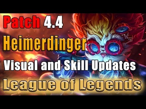 League of Legends Patch 4.4 - Heimerdinger Visual and Skill Updates