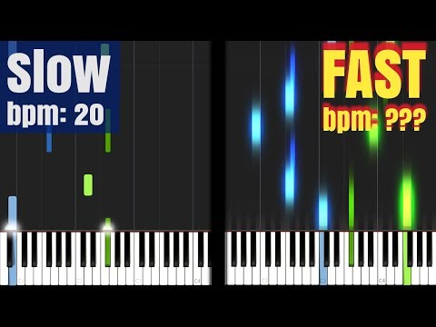 Every Musical Tempo in Synthesia