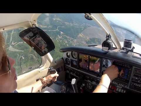 Sorvolando Genova con Touch/Go a LIMJ con il Piper PA28 Turbo Arrow IV Glass Cockpit