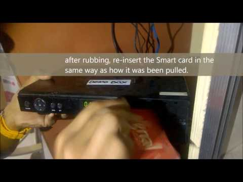 Cignal Box Technical Problem, Re insert the Smart Card