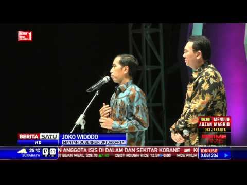 Jokowi Perkenalkan Ahok Sebagai Gubernur Baru DKI