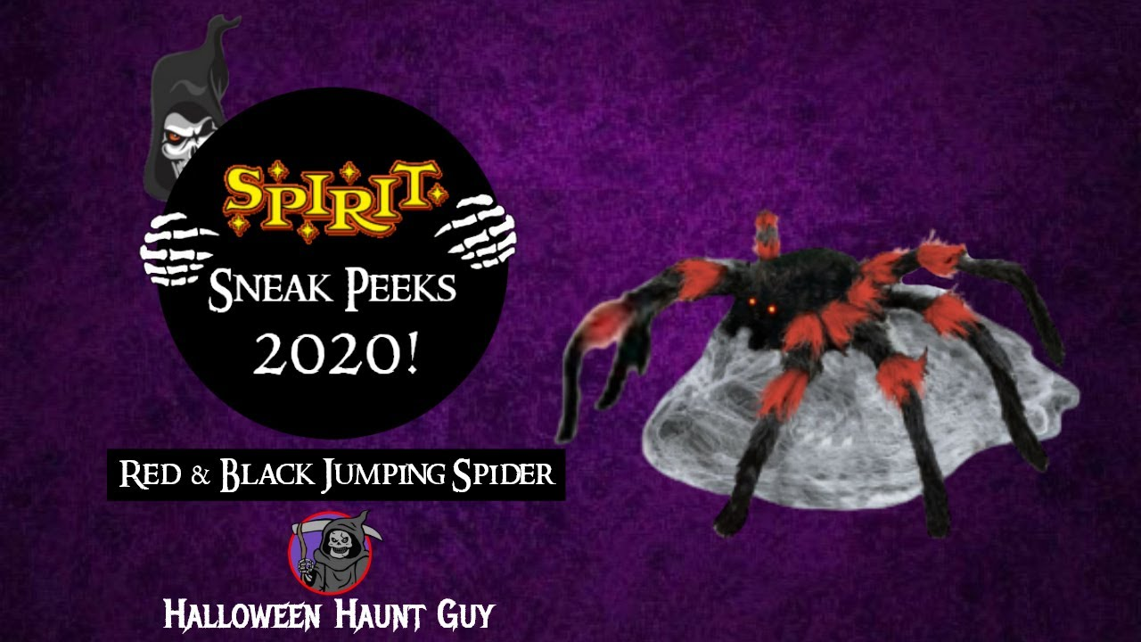 Red & Black Jumping Spider | Spirit Halloween sneak peeks 2020
