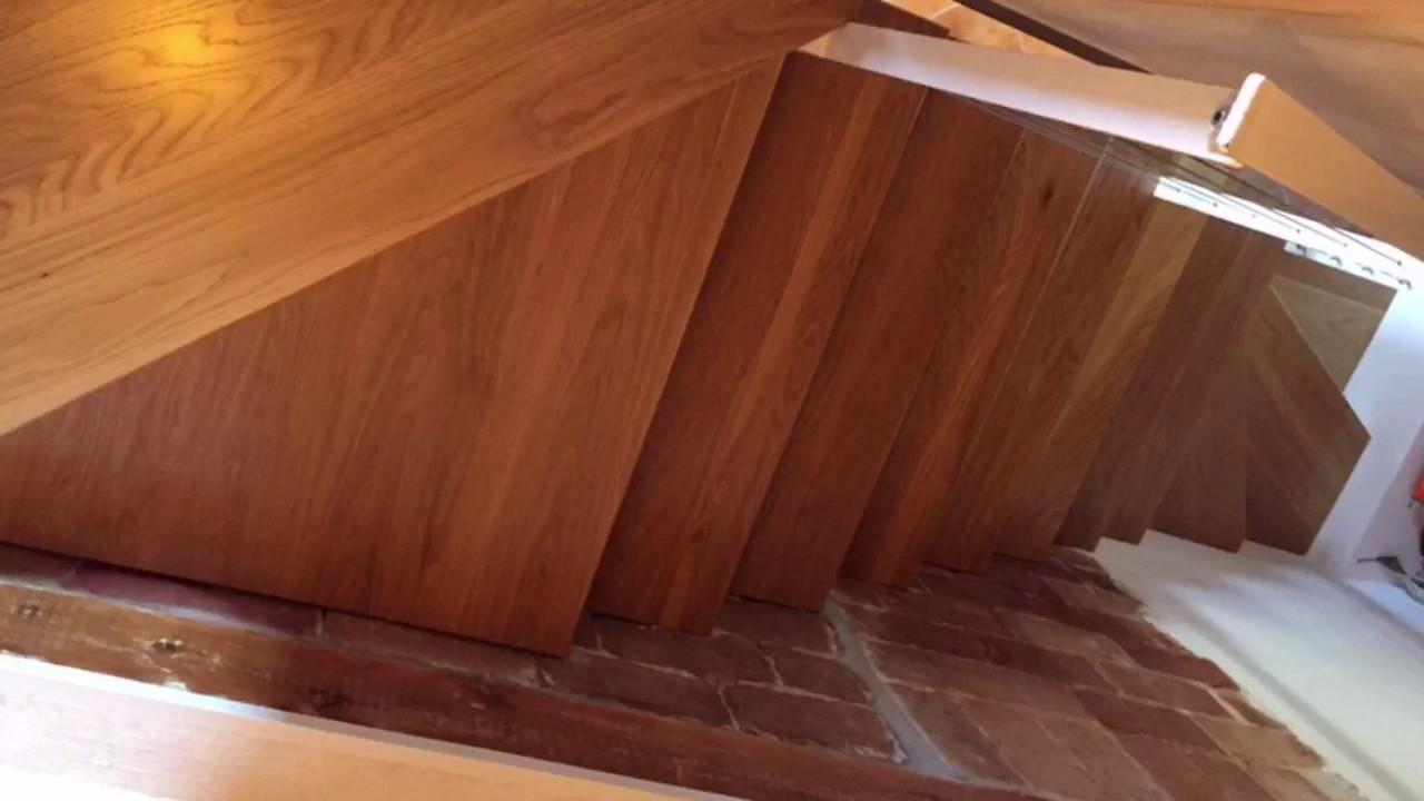 escalera en madera e hierro