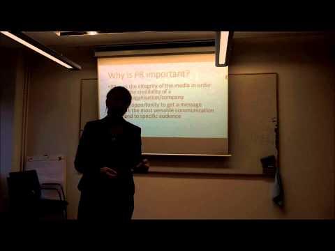 OLC  Presentation on PR and Communication