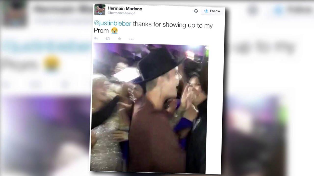 Justin Bieber Crashes High School Prom with Hailey Baldwin | Splash News TV | Splash News TV