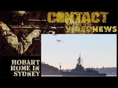 NUSHIP Hobart arrives in homeport Sydney for the first time