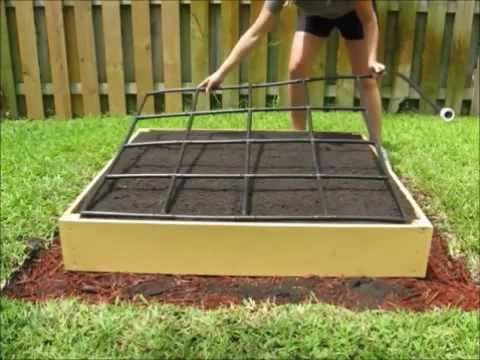 The Garden Grid watering system - A Square Foot Garden Planting - garden irrigation design