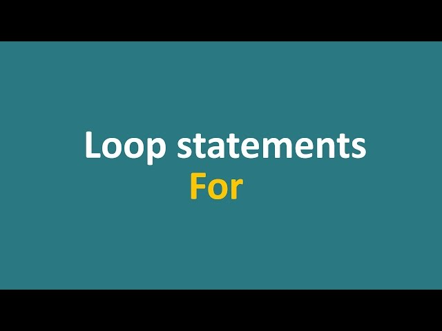 Lecture 11 - for loops (part 1)