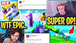 "TFUE & BUGHA *FURIOUS* Explaining WHY ""JUNK RIFT"" *RUINS* FORTNITE!"