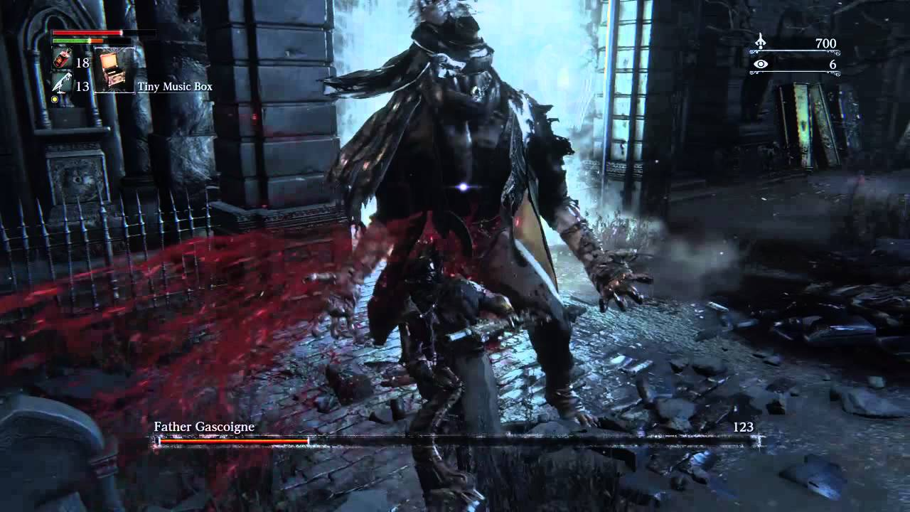 Bloodborne Father Gascoigne fight - YouTube