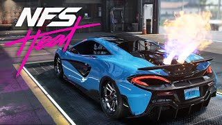 THOSE FLAMES !!! McLaren 600LT BUILD  - NEED FOR SPEED HEAT Gameplay Walkthrough Part 25