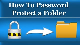 In this video i show you How to password protect a folder/file in w...