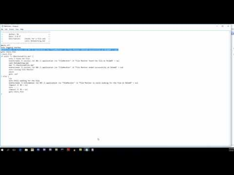 BSTSTech: File Monitoring batch script, Event Viewer, and Task Scheduler