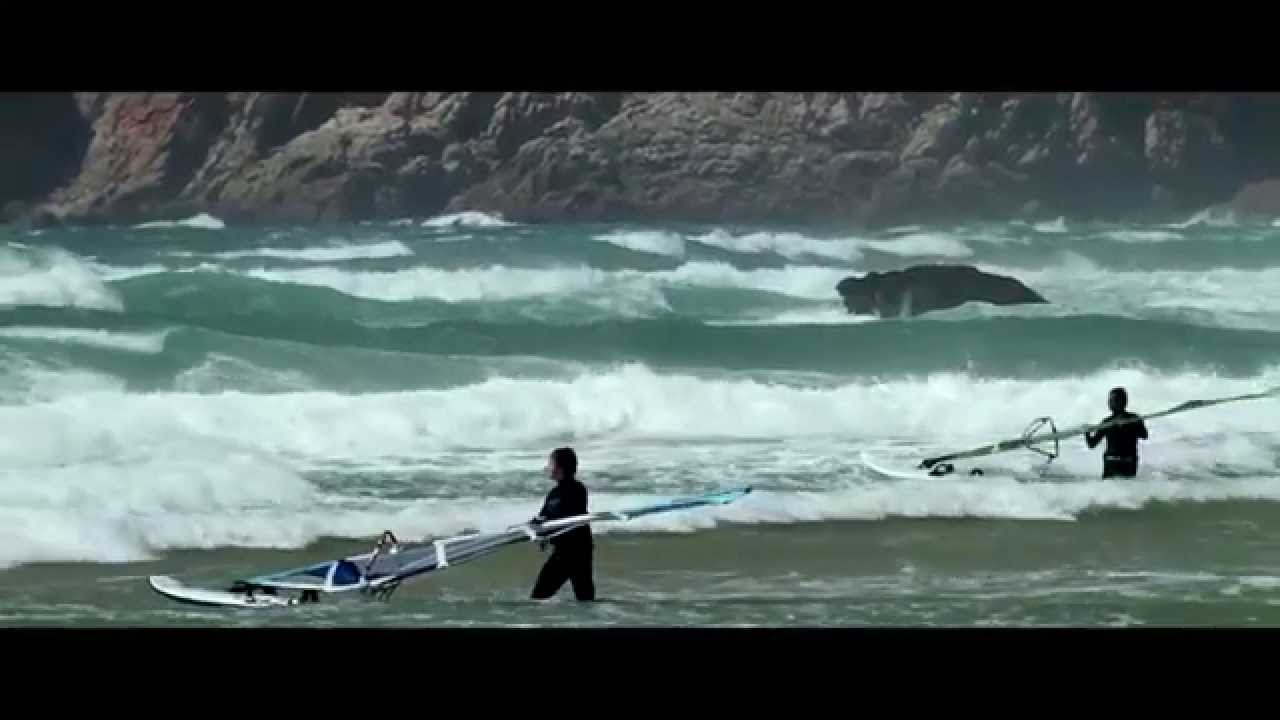 Guincho Beach Portugal And Some Surfing Kiting Windsurfing Youtube