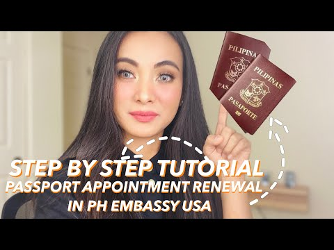 How To Schedule An Appointment For  Philippine Passport Renewal In USA | Step By Step Process