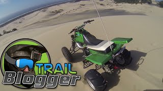 ATV Riding in the Sand Dunes PART 1 YFZ 450 sport quad Banshee 350 four wheeler GoPro Helmet Camera