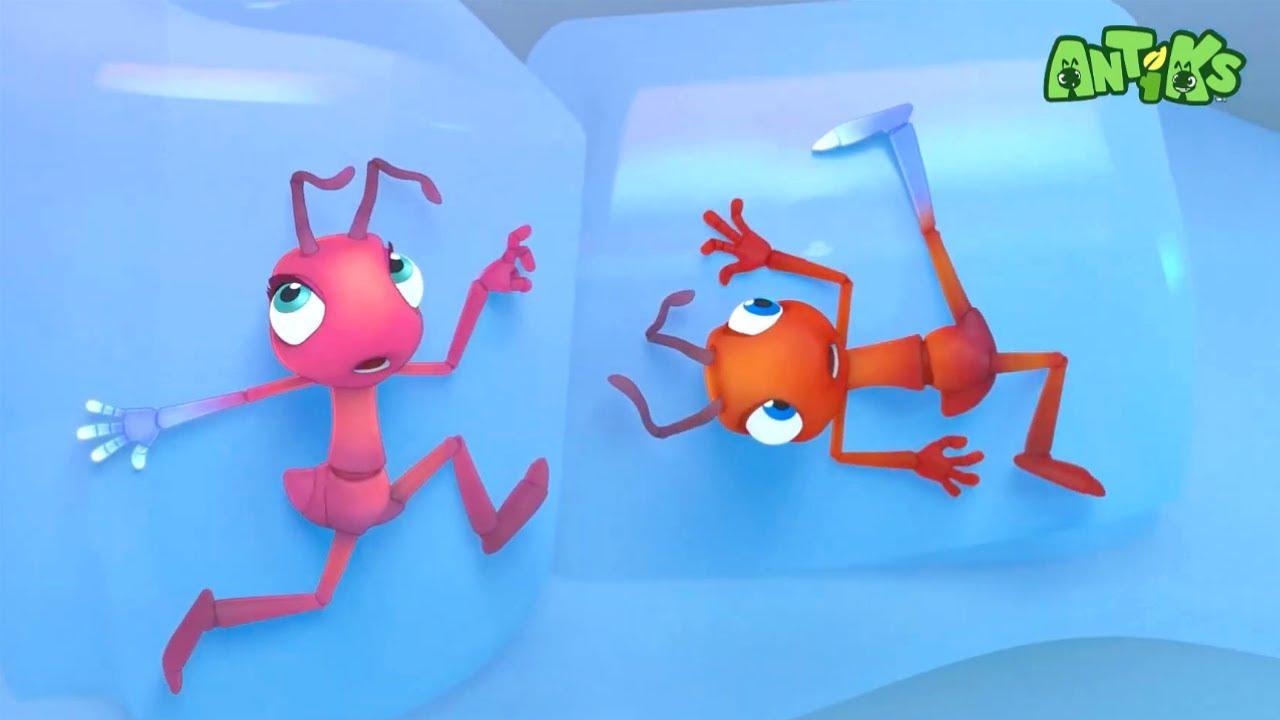 Oddbods Presentan: Antiks   El Gran Frío   Dibujos Animados Para Niños