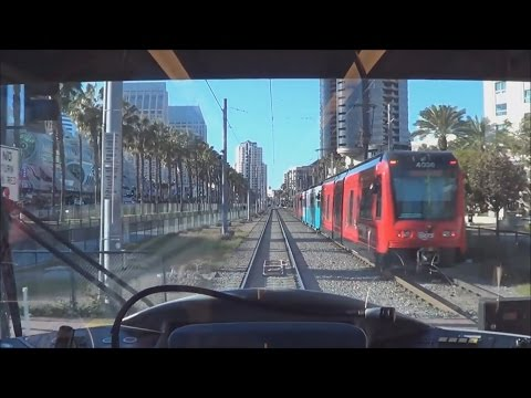 San Diego Trolley (Green Line) Entire Line Ride - 1/2/15