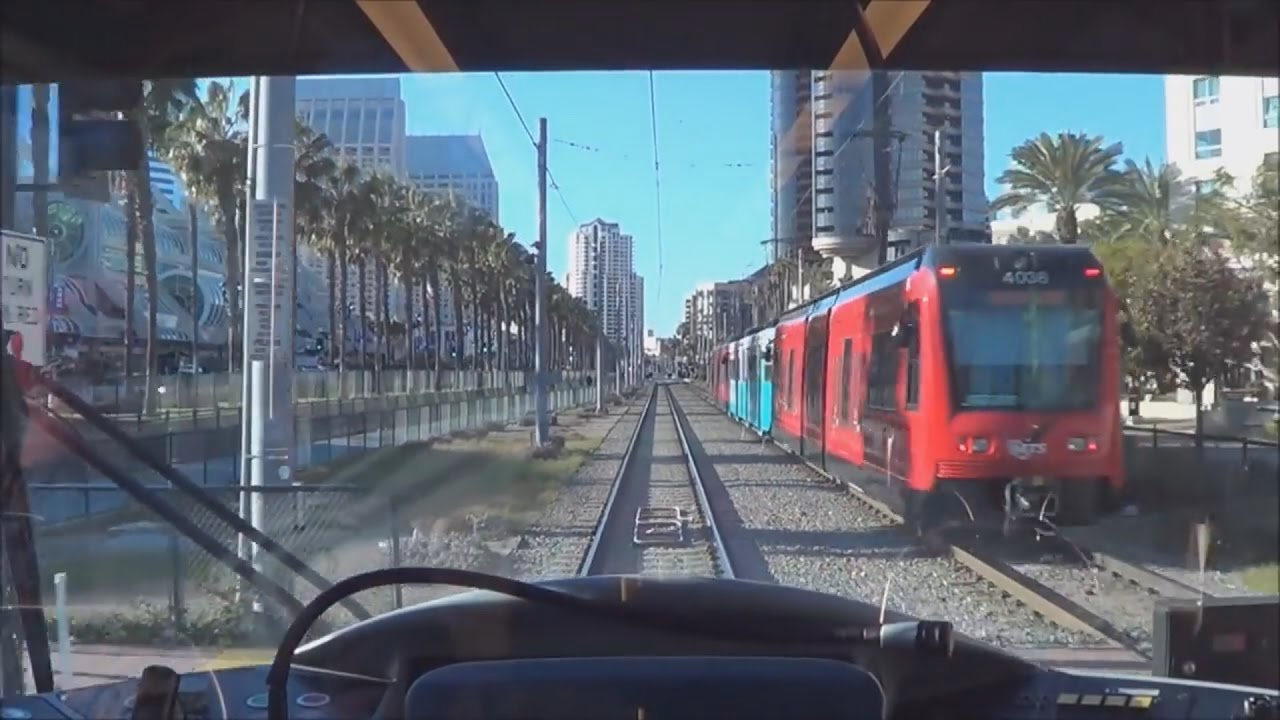 san diego trolley green line entire line ride 1 2 15 youtube. Black Bedroom Furniture Sets. Home Design Ideas