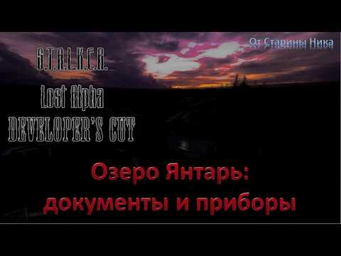 S.T.A.L.K.E.R. Lost Alpha Developer's Cut 1.4007 - Документы и приборы на Янтаре