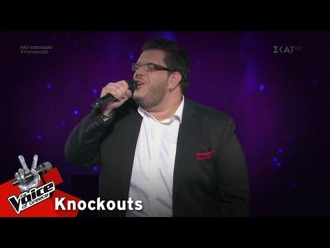 Ξενοφών Λαφαζάνης - Φεγγάρι μου χλωμό | 3o Knockout | The Voice of Greece
