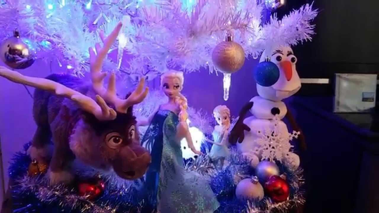 La Reine Des Neiges Sapin De Noel Decembre 2014 Youtube