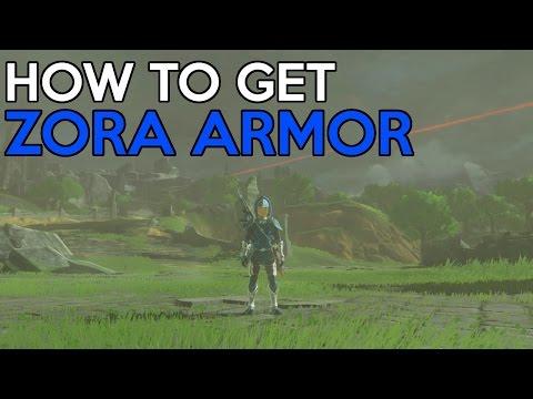 How to get the Zora Armor Set - Legend Of Zelda Breath Of the Wild