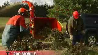 TP 200 Mobile wood chipper