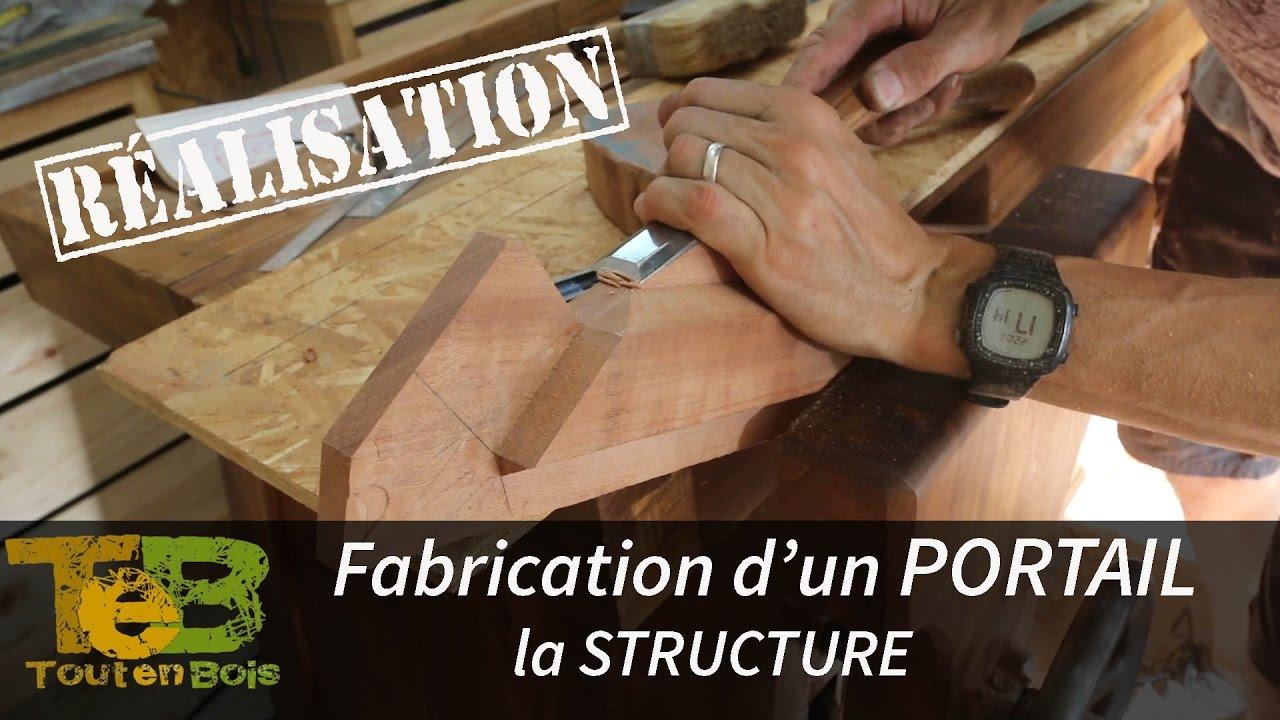 Travail du bois - la fabrication d\'un portail en bois , les ...