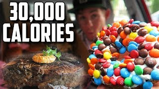 FOUR FOOD CHALLENGES IN 4 DAYS | 30,000+ CALORIES