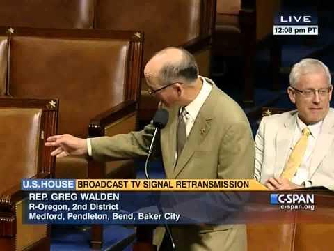U.S. House unanimously passes Greg Walden's satellite television bill