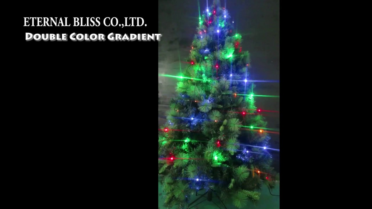Eternal christmas tree decoration Double Color Gradient warm white ...