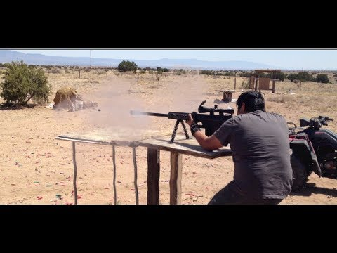 4 Grown Men get Asses Kicked by 50 Cal Sniper Rifle  (M82A1 Barrett .50 cal)