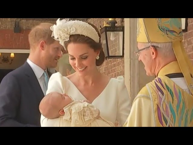 Prince Louis, third child of William and Kate, is christened