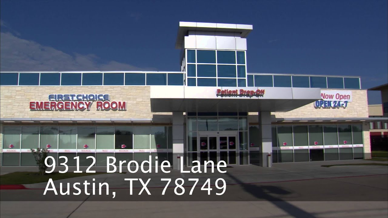 First Choice Emergency Room - Austin Brodie Ln. - YouTube