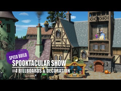 Planet Coaster: Spooktacular Show - #4 Billboards & Decoration [Speed Build]