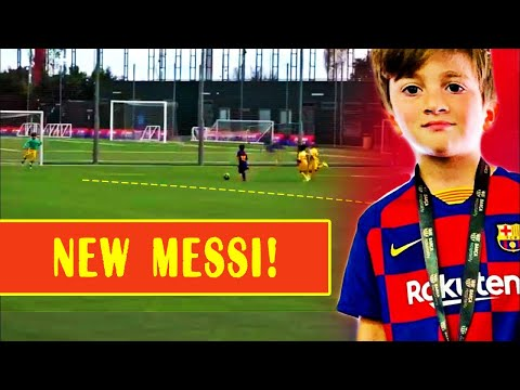 THIAGO MESSI - First Match For BARCELONA And First GOAL   FUTURE GENIUS And LEO REPLACEMENT?