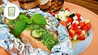 Lachs vom Grill mit Ratatouille | Chefkoch.de