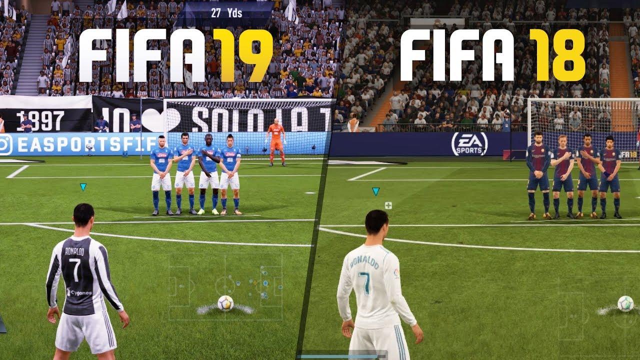 FIFA 19 vs FIFA 18 GAMEPLAY COMPARISON!
