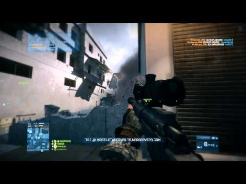 Battlefield 3 Support & Recon Kit Only Gameplay -Grand Bazaar- 64p - TDM - PC |