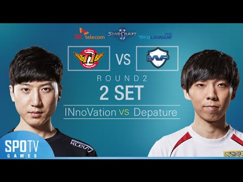 [SPL2016] INnoVation(SKT) vs DeParture(MVP) Set2 Dusk Towers -EsportsTV, Starcraft 2