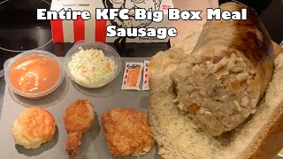 Entire KFC Big Box Meal Sausage