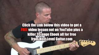 Learn Rockabilly Blues electric guitar Brian Setzer inspired hybrid picking Mystery Train style