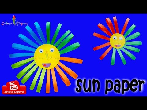 HOW TO MAKE  PAPER SUN 🌞  DIY IDEAS  🌞 PAPER CRAFTS  🌞  Origami Sun 🌞 Colour Papers